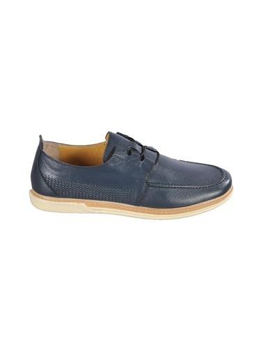 Ayakmod 017 Siyah Erkek Günlük Hakiki Deri Ayakkabı Lacivert
